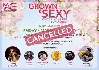 CANCELLED DJ Kaotic - Grown & Sexy - Spr