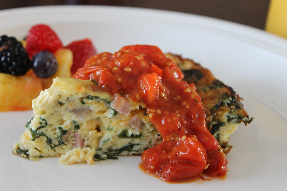 Crustless Quiche With Roasted Tomato Sauce.JPG