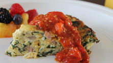 Weekend Brunchy Breakfast: Crustless Quiche!