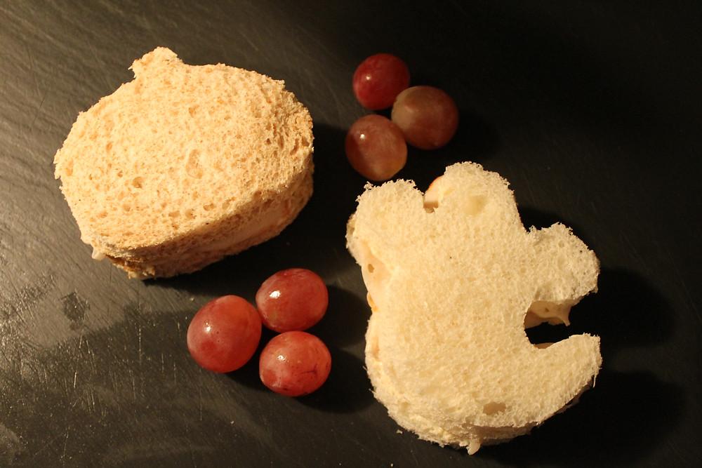 Pumpkin and Ghost Sandwiches.JPG