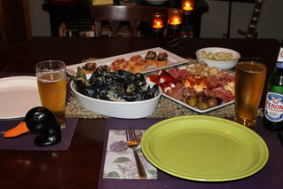 Date Night at Home: Charcuterie Plate, Trieste Mussels, Bruschetta Duo and Peroni!