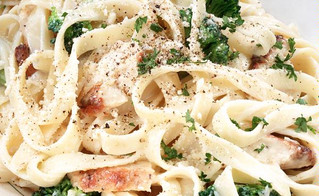 Mama Mia! Fettuccine Alfredo with All the Flavor but None of the Guilt!!