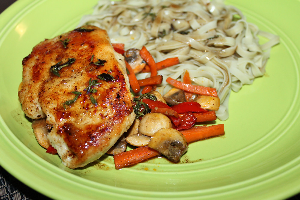 Thyme Chicken Marsala with GT Noodles Blog.JPG