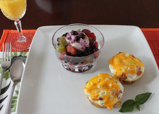 Sunday Brunch: Delicious Breakfast Cups and a Healthy Portion of Fruit Salad!