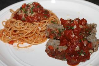 The Simple Pleasures of Marinara: Pesto Meatloaf with Marinara Sauce!
