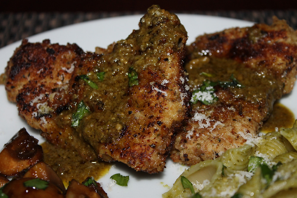 Veal Scallopini in Pesto Sauce.JPG