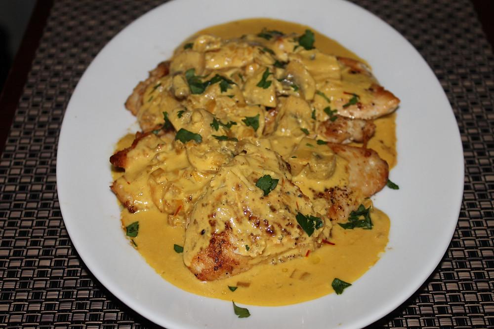 Chicken Scallopini with Saffron Cream Sauce Recipe.JPG