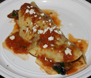 Re-Imagining Dinner: Mediterranean Chicken Crepes with Roasted Tomato Sauce