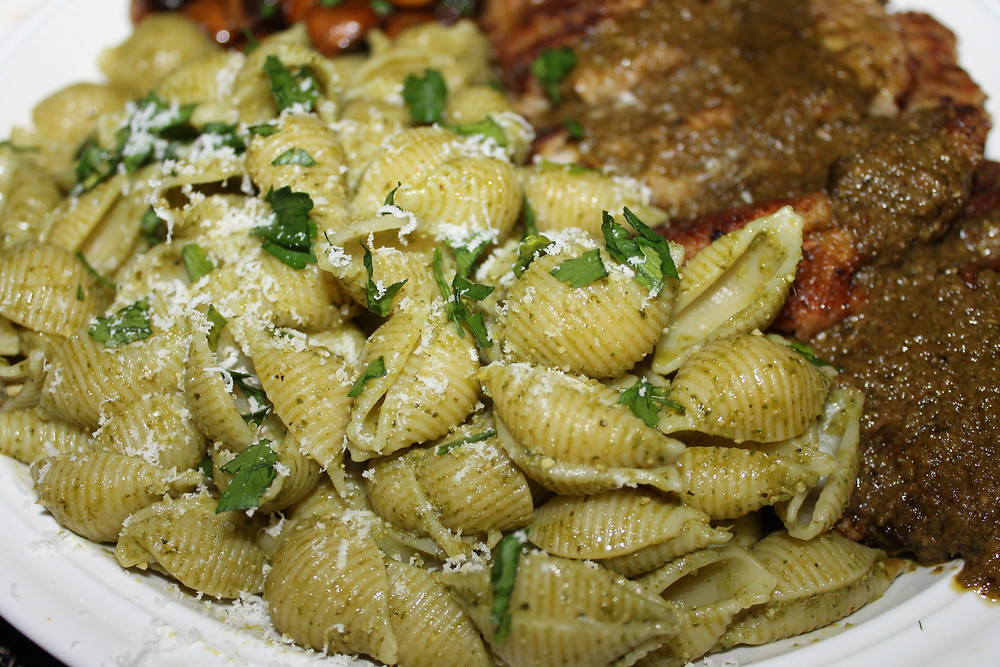 Pasta Shells in Pesto.JPG
