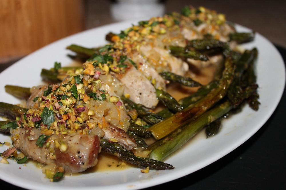 Pork Tenderloin with Roasted Asparagus and Warm Citrus Sauce 2.JPG
