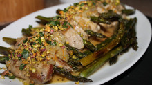 Perfect  Pork Tenderloin With Roasted Asparagus and Warm Citrus Sauce!