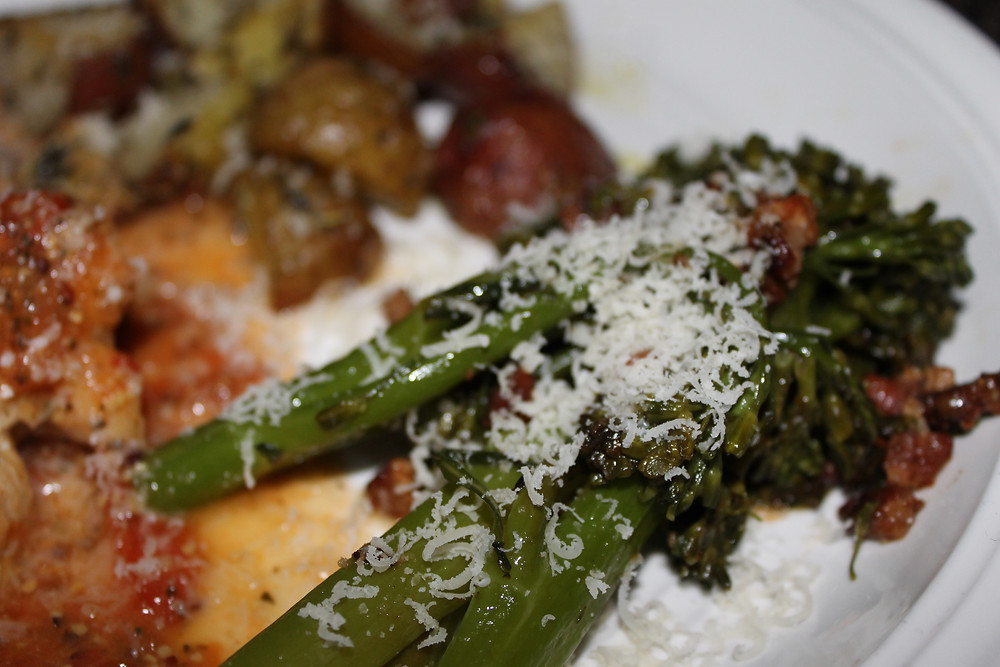 Sauteed Broccolini with Pancetta and Parm.JPG