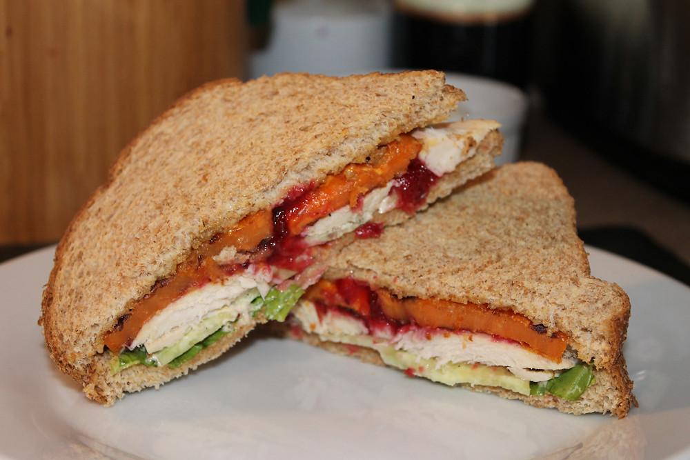 Grilled Sweet Potato Turkey Sandwich