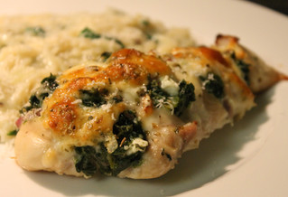 Easy Cheesy Stuffed Chicken Breasts!