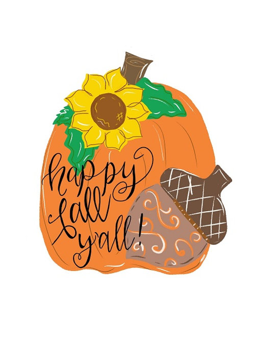 Virtual Paint Party! Fall Door Hanger Painting Class