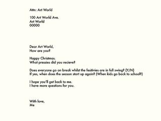 Dear Art World