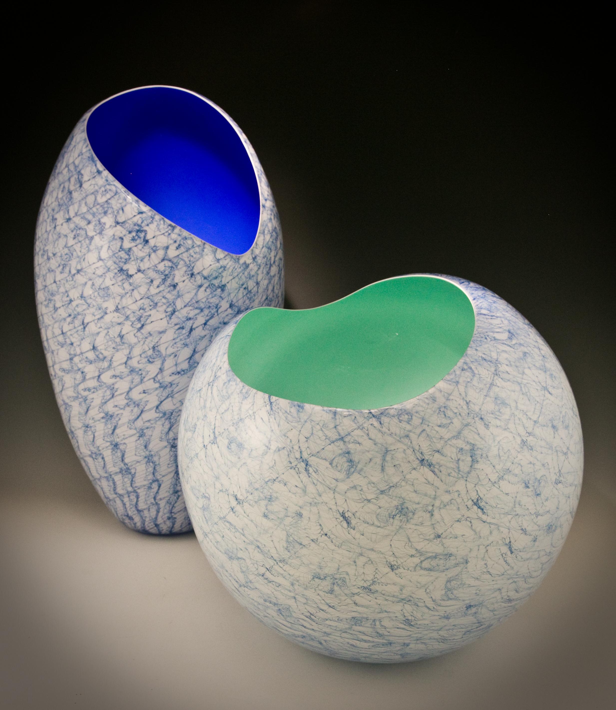 Blue Merletto nos.4 & 9