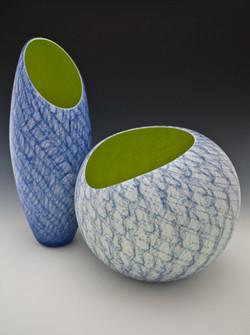 Blue Merletto nos.1 & 3