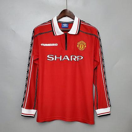 Manchester United Retro Premier League Home Long Sleeve Shirt 1998/00