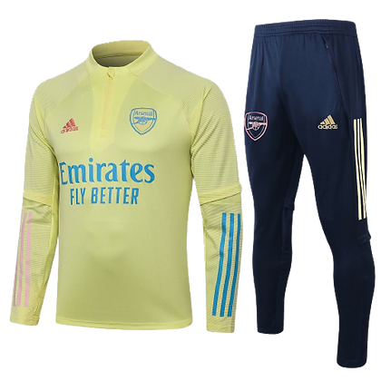 Arsenal Adidas Yellow Tint Training Suit 2020/21
