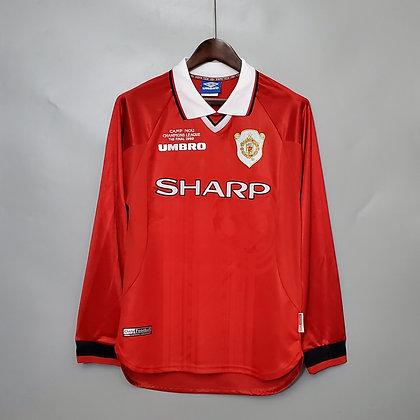 Manchester United Retro Champions League Final Long Sleeve Shirt 1999