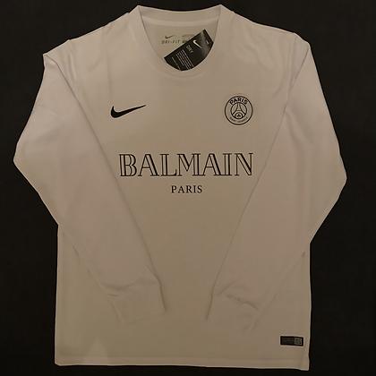 PSG Balmain White Long Sleeve Concept Shirt