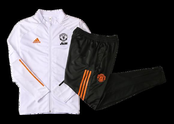 Manchester United Adidas White & Black Tracksuit 2020/21