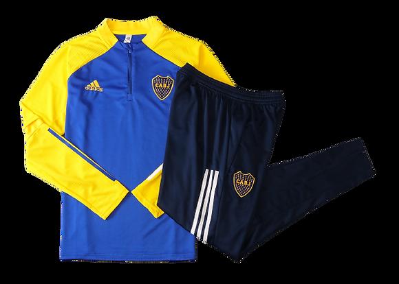 Boca Juniors Quarter Zip Tracksuit 2020/21