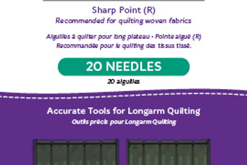 High-Speed Longarm Needles – Two Packages of 10 (Crank 110/18 134MR-4.0)