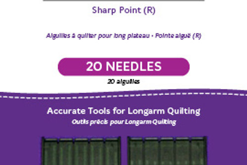 Standard Longarm Needles – Two Packages of 10 (14/90-R, Sharp)