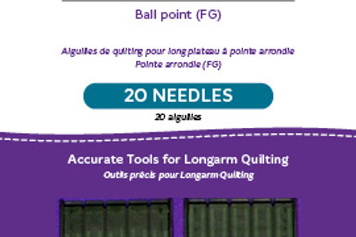 Ball Point Longarm Needles – Two Packages of 10 (16/100-FB, Ball Point)