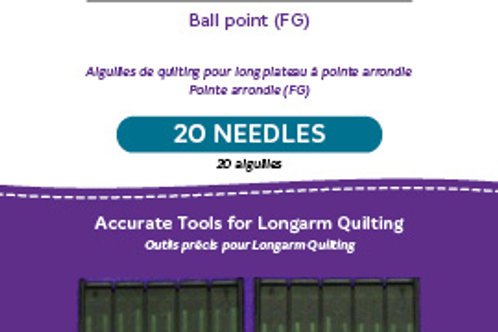 Ball Point Longarm Needles – Two Packages of 10 (20/125-FB, Ball Point)