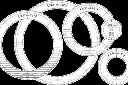 Ruler-Silver Ring Set