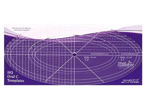 Ruler-Oval C 12″ 8″