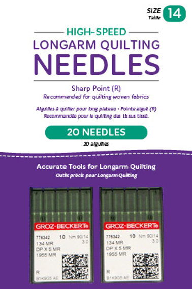 High-Speed Longarm Needles – Two Packages of 10 (Crank 90/14 134MR-3.0)