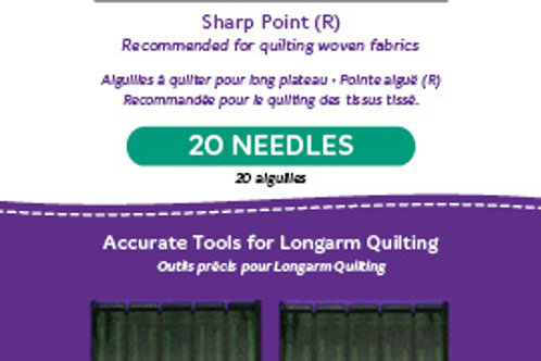 High-Speed Longarm Needles – Two Packages of 10 (Crank 130/21 134MR-5)