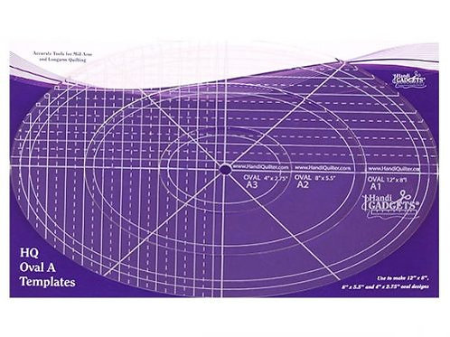 Ruler-Oval A 12″ 8″ 4″