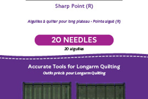 Standard Longarm Needles – Two Packages of 10 (18/110-R, Sharp)