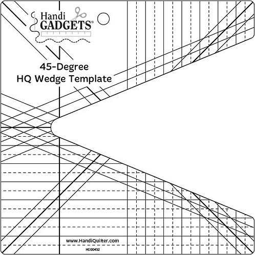 45-Degree Wedge Template