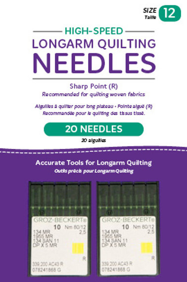 High-Speed Longarm Needles – Two Packages of 10 (Crank 10/12 134MR-2.5)