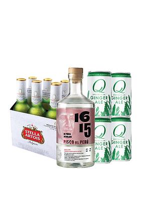 Promo #20: Pisco 1615, Cerveza Stella Artois, Q Mixers