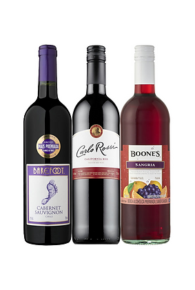 Promo #12: Vino frutado Boone's, Vino Carlo Rossi, Vino Barefoot