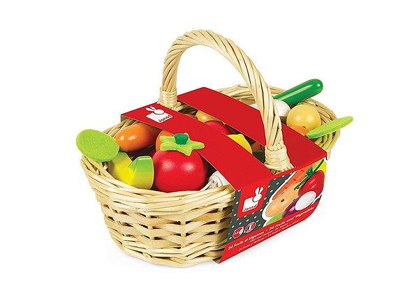 Корзинка овощей и фруктов Janod