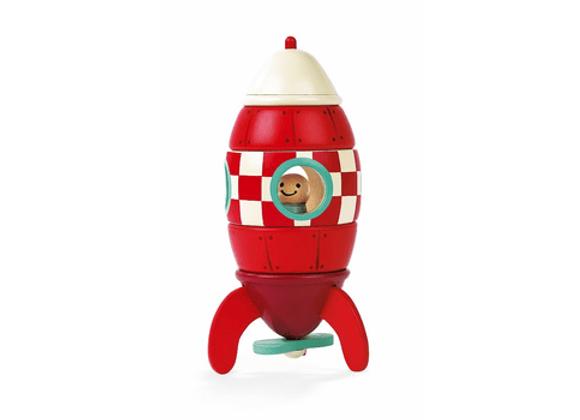 """Конструктор магнитный """"Ракета"""" Janod"""