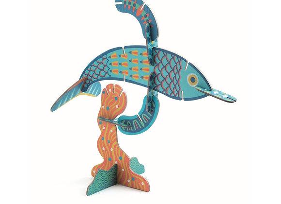 Пазл Djeco Рыбы 3D