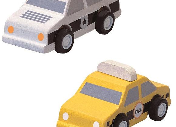 Машинки такси и полиция Plan Toys