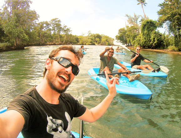 Kayaking on Epule River