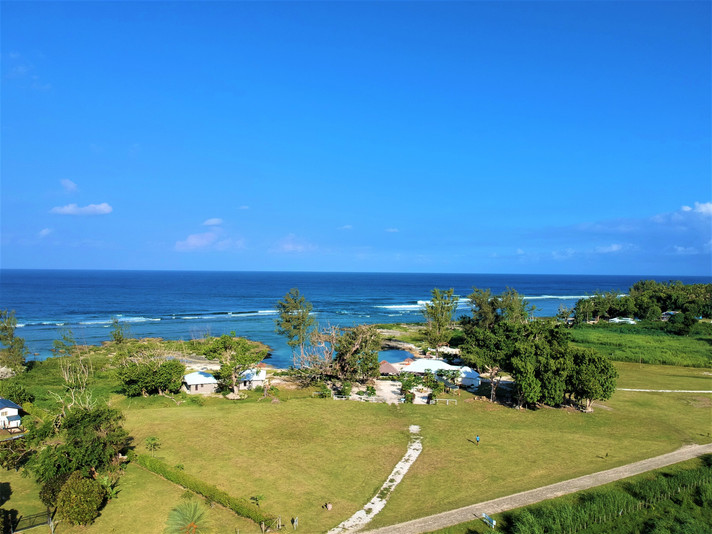 Resort located right on oceanfront