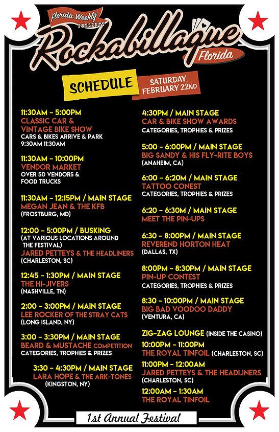Rockabillaque-Florida-Fest-Schedule-2020