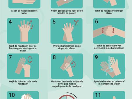 Was regelmatig je handen op de juiste manier om infecties te voorkomen